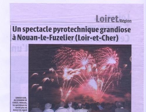 UN SPECTACLE PYROTECHNIQUE GRANDIOSE À NOUAN-LE-FUZELIER (LOIR-ET-CHER)