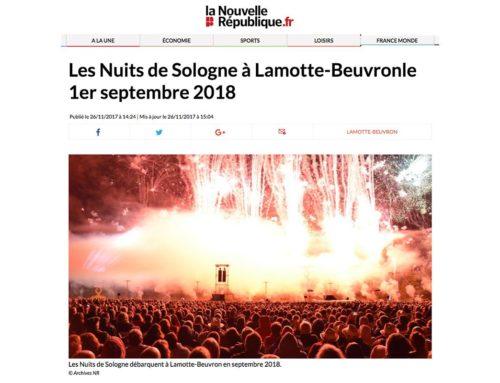 LES NUITS DE SOLOGNE À LAMOTTE-BEUVRON LE 1er SEPTEMBRE 2018