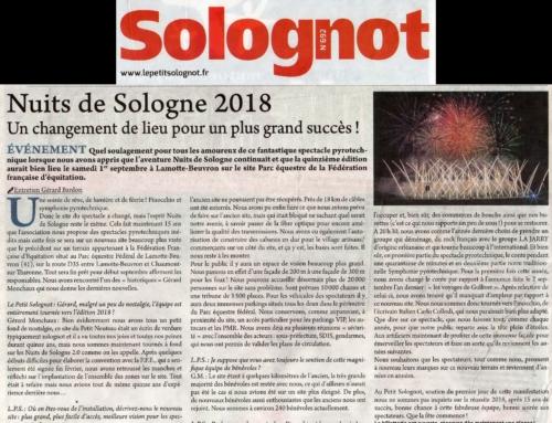 NUITS DE SOLOGNE 2018, UN CHANGEMENT DE LIEU POUR UN PLUS GRAND SUCCÈS !