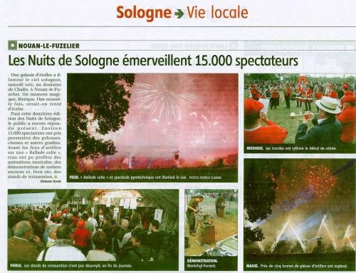 LES NUITS DE SOLOGNE ÉMERVEILLENT 15.000 SPECTATEURS